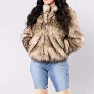 8e52728eab5b Fashion Nova Jackets   Coats - Fashionnovas faux fur jacket
